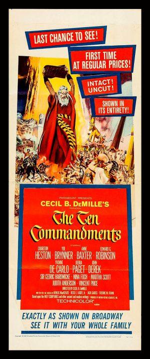 The Ten Commandments Vintage Poster Jewish Biblical Movie