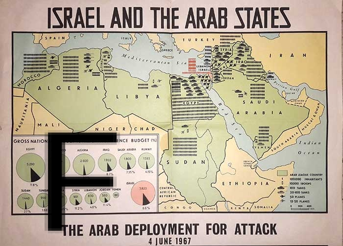 Httpwww Overlordsofchaos Comhtmlorigin Of The Word Jew Html: Six Days War Poster Map The Arab