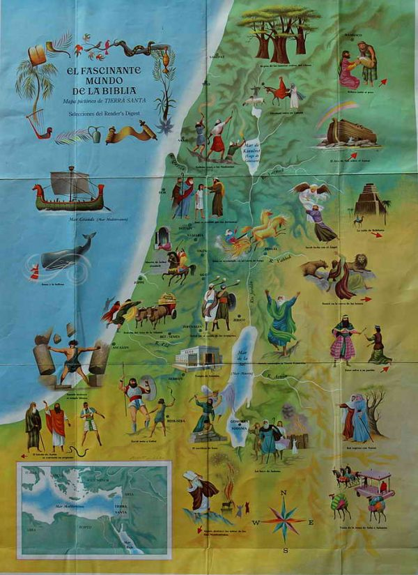 BIBLICAL MAP OF THE LAND OF ISRAEL