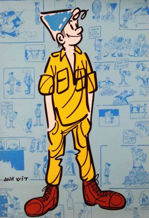 Srulik, the cartoon character symbolizing Israel,