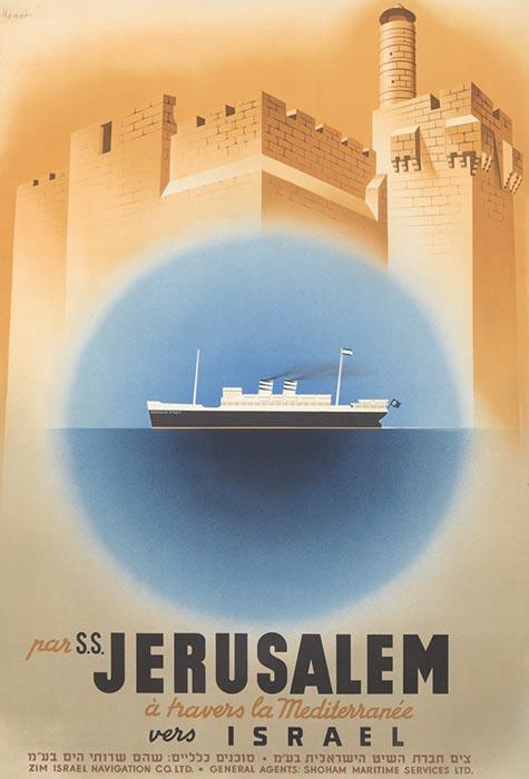 Httpwww Overlordsofchaos Comhtmlorigin Of The Word Jew Html: Zim Jerusalem Vintage Poster Jewish