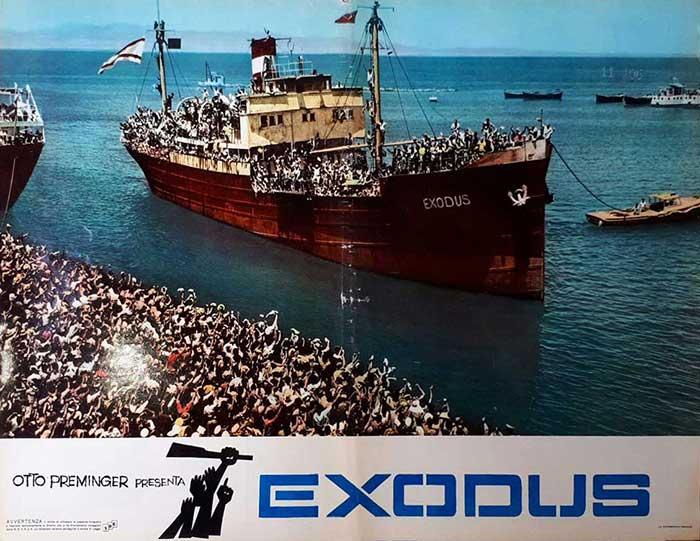 Httpwww Overlordsofchaos Comhtmlorigin Of The Word Jew Html: EXODUS ORIGINAL BIG LOBBY CARD POSTER 1962